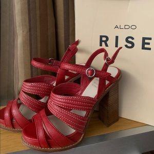 Aldo Rise and Misha HighHeel sandals 8 Red 070